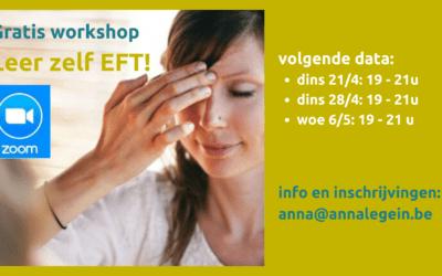 Leer zelf EFT!' gratis ZOOM workshops